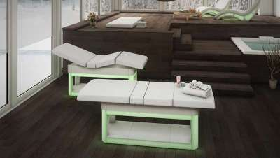 Elysium, la cama de masajes con cromoterapia