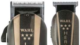 Wahl apostou numa combinação de modelos top de cabos em versão retro. Legend & Hero apresenta tonalidades douradas e pretas em sintonia com a essência barber shop.