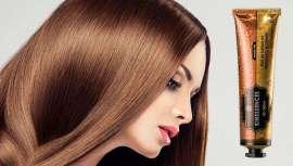 Um novo óleo-elixir de beleza em creme para todos os cabelos, incluindo os mais finos e oleosos, com uma textura mais ligeira e mais fácil de aplicar