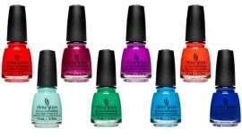 La firma China Glaze propone una impactante gama de 12 colores de laca de uñas para coronarse como la reina indiscutible del verano