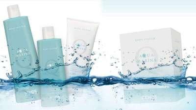 Aquamarina, inspirada nas propriedades benéficas do mar para o corpo e cabelo