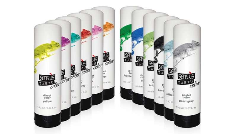 Color, potencia y fantasía directos sobre el cabello sólo con Tab>u Color Direct