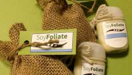 SoyFoliate es la tecnología que han creado Samuel Lewis, Steve Ferris, Alison Switzer y Ryan Pendergast al darse cuenta que era necesario una alternativa a las partículas de microperlas de plástico