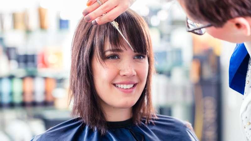 Corte de pelo capas marcadas