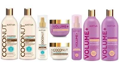 Kativa Coconut y Kativa Volume+, gamas con ingredientes naturales que dan vida al cabello