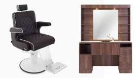 Así es la propuesta de Pahi, un fantástico tocador más un increíble sillón de barbero para poner tu salón a la última