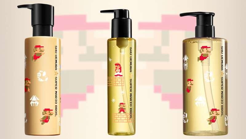 Shu Uemura art of hair rediseña sus productos más emblemáticos y los ilustra con los dibujos de Mario Bross, en una edición de lujo