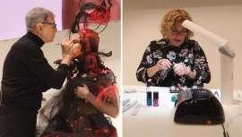 El espacio ha acogido interesantes propuestas para lucir uñas durante las próximas navidades