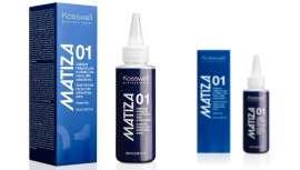 Matiza 01 neutraliza y elimina el tono amarillo de los cabellos decolorados, tratados químicamente o por oxidación natural