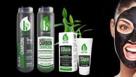 Toda la gama está basada en el carbón de bambú. Es una sustancia sólida polvorienta con grandes propiedades absorbentes