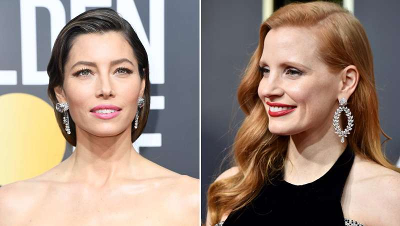 Jessica Chastain y Jessica Biel o cómo conseguir los mejores looks de los Globos de Oro