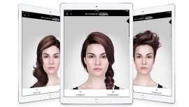 Esta aplicación, que muestra looks de cabello en realidad virtual, tan solo ofrece la opción de estilos caucásicos a sus usuarias