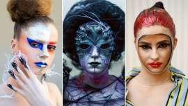 El equipo de la firma exhibió todo tipo de caracterizaciones, body painting, maquillajes de fantasía, tocados y las uñas más originales que no dejaron a nadie indiferente