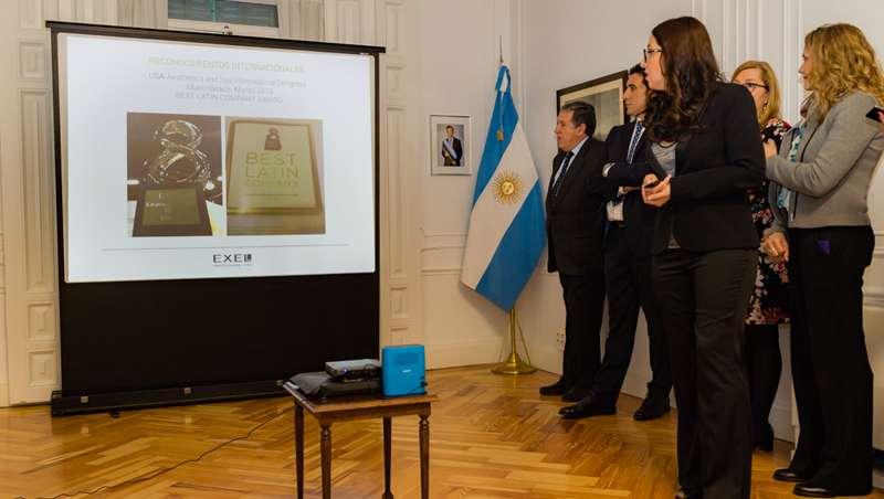 Presentación europea en la Embajada Argentina de Bio Exel, la dermocosmética que conquista el mundo