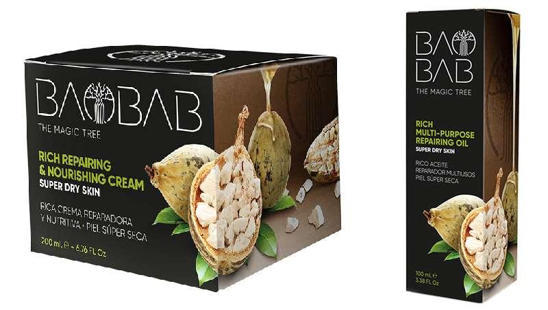 Nueva línea de cosmética facial y corporal Baobab