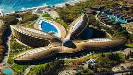 Premiado como el mejor destino para el bienestar por los  World Travel Awards, el Mriya Resort & Spa, sito en Crimea, Rusia, destaca además por su infraestructura y diseño a cargo del famoso arquitecto inglés Norman Foster