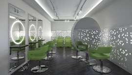 El aro central del tocador Halo by GAMMA Store que trae hasta nosotros Orizzont, es sin duda una pieza espectacular del diseño en mobiliario para peluquería. Iluminado con LED, asegura una percepción perfecta de la imagen en el espejo