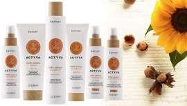 Certificada Icea Vegan y Love Nature, la línea Actyva Linfa Solare es la respuesta natural y sostenible a la necesaria protección y belleza del cabello y cuero cabelludo ante la exposición solar que aumenta en verano