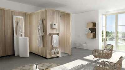 Sauna  One Collection de Carmenta, simplicidade e elegância