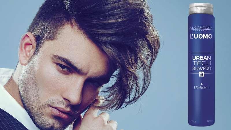 O champô para homem com colagénio que fortalece o cabelo, Urban Tech