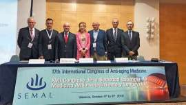 La Sociedad Española de Medicina Antienvejecimiento y Longevidad supera asistentes, según cifras oficiales, con un centenar de ponentes y más de 350 congresistas de 39 países