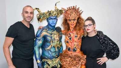 Cazcarra Image Group presenta lo último en maquillaje y bodypainting en Tokio
