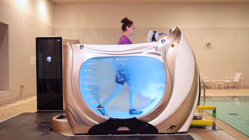 3 en 1: máquina de ejercicio, spa y ducha