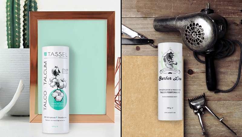 Polvos perfumados Tassel y Barber Line