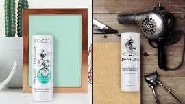 Talcos perfumados, dermatologicamente testados, das marcas Tassel e Barber Line