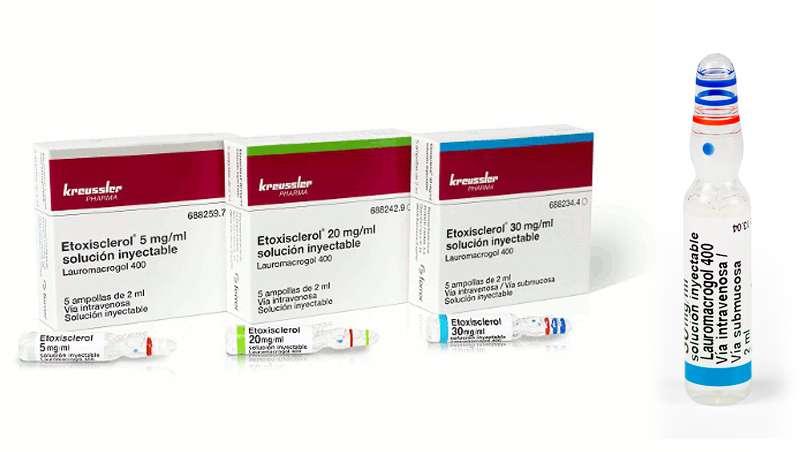 Etoxisclerol, esclerosante para la eliminación de varices