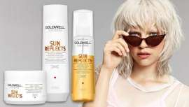 La gama Dualsenses Sun Reflects, de Goldwell, protege el cabello de la deshidratación y la pérdida de color resultado de la sobreexposición solar