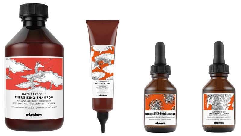 Naturaltech Energizing, energizando linha projetada para escalpes e cabelo frágil