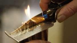 O cabeleireiro Chema de la Fuente, em colaboração com a Universidade Politécnica de Valência, projetou o primeiro protótipo de tesoura profissional que sela as pontas e previne a queda de cabelo, usando o fogo