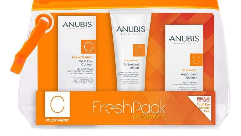 Anubis prepara a pele com a sua Fresh Pack Pro-vitamin C