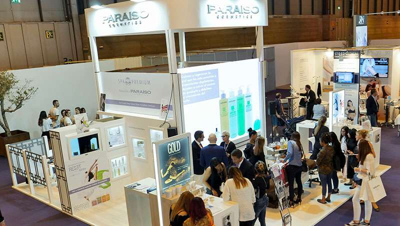 Stand Paraíso Cosmetics en Salon look