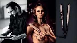ghd ha versionado dos de sus stylers con diseños inspirados en los trabajos del tatuador David Allen, creados para ocultar cicatrices de mastectomías