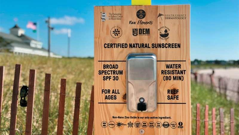 Dispensadores de filtro solar gratuito en Rhode Island