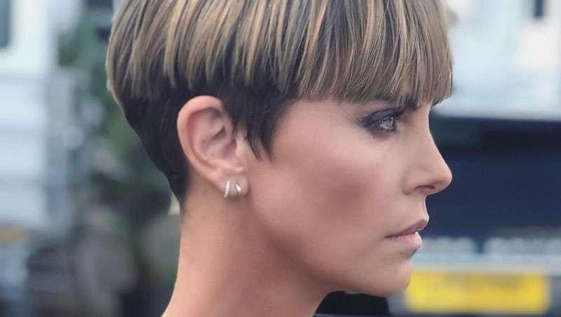 Tazón o paje, el nuevo y más radical corte y cambio de look de Charlize Theron