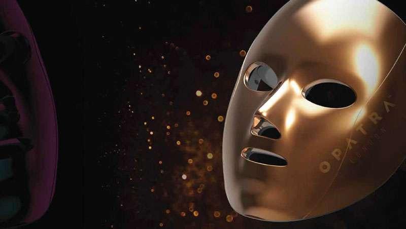 Opatra Cleo Mask, 14 kilates de oro, LED rojo e infrarrojos