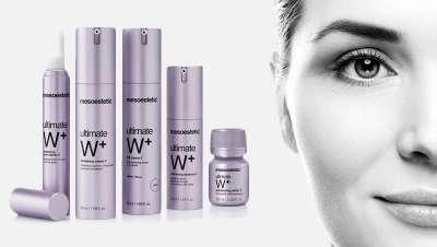 Ultimate W+, línea blanqueante, iluminadora, antienvejecimiento e hidratante de mesoestetic