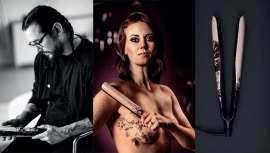 ghd criou novas versões das suas stylers com desenhos inspiradores nos trabalhos do tatuador David Allen, criados para ocultar cicatrizes de mastectomias