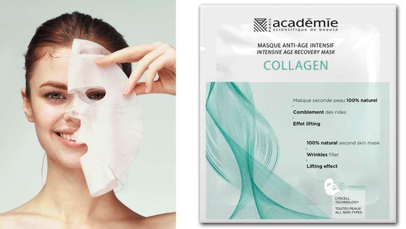 La máscara antiedad de acción intensiva y colágeno, Sérum in Mask de Académie