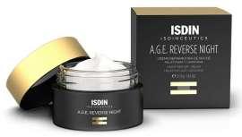 Isdinceutics A.G.E. Reverse Night es una crema de noche, que gracias a la melatonina consigue trabajar durante el descanso para eliminar los resultados de la agresión de los agentes externos a los que la piel se ve sometida durante el día