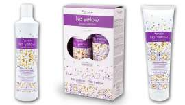 Un champú y una mascarilla ideales para usar por tus clientas rubias, con una bonita estampación en sus envases, novedad y promoción edición limitada de Fanola No Yellow