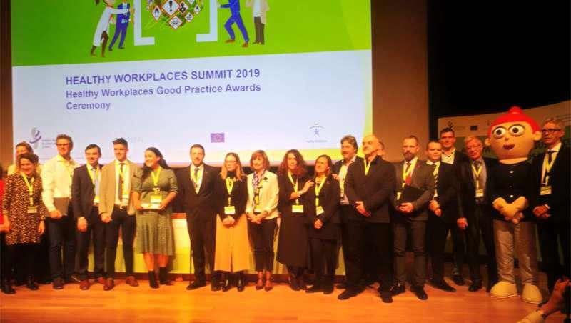 Escenario premios Europeos a las Buenas Prácticas de la campaña