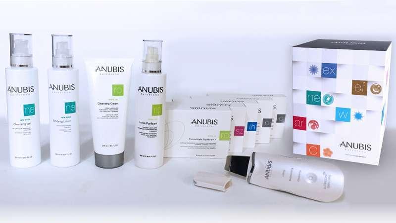 Novos packs cabine de Anubis, com o dispositivo Ultrasonic Skin Care de presente