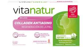 Complemento alimenticio bebible, Vitanatur Collagen Antiaging se ha hecho merecedor por parte de los consumidores del premio a la innovación, siendo escogido como uno de los mejores productos del año