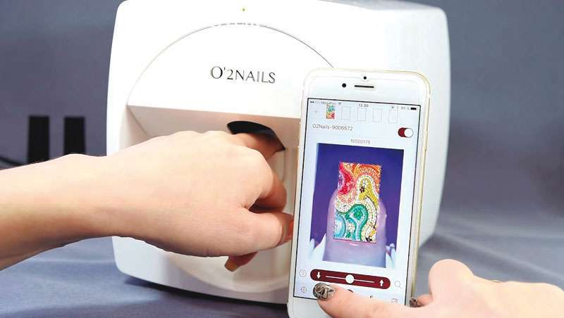 Impressora de unhas, desenhos incríveis em apenas uns segundos, novidade Estetiplan