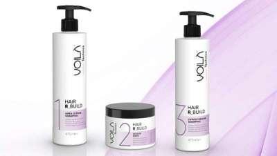 Absoluta novidade, tratamento de queratina em três passos, Voila Hair R-Build de Intercosmo