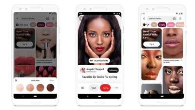 Pinterest, a nova ferramenta da realidade aumentada para testar maquilhagem